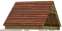 Wooden Roof (w/Black Poly Slats)