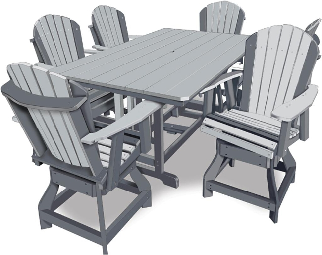 44 Quot X72 Quot Rectangle Table 6 Chairs Amish Swings Amp Things