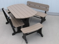 5' Oval Picnic Table