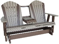 5' Adirondack Rocker/Glider w/Fold Down Center