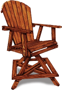 2' Adirondack Swivel Balcony Chair