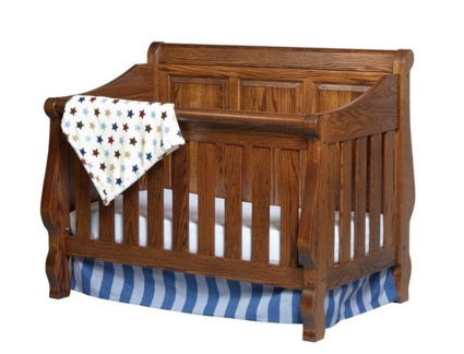 CR 111rp Heirloom Raisec Panel Crib
