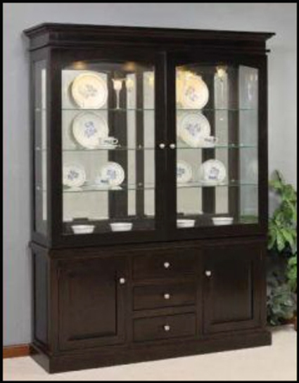 Deluxe Mission Sliding Door Hutch