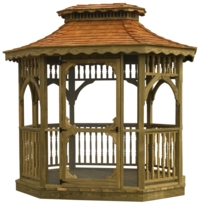 Tea House 7' x 9' Colonial Wood