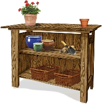 Bar or Gardening Bench (back view)