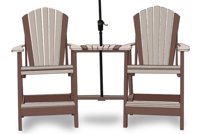 Adirondack Balcony Chair Set