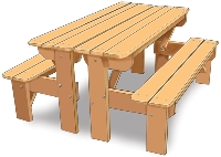 5' Table Bench Set
