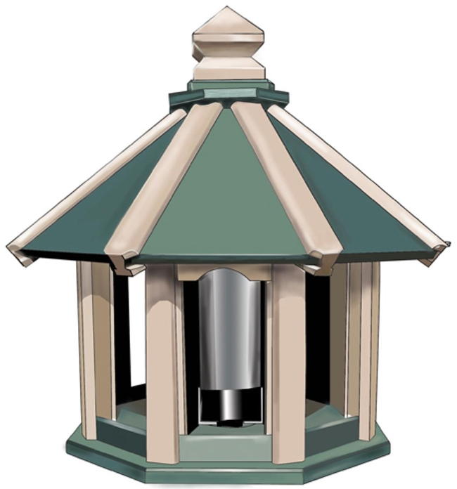 Octagon Bird Feeder