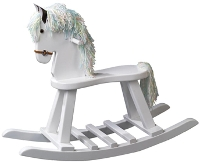 Painted White Flat Seat Horse