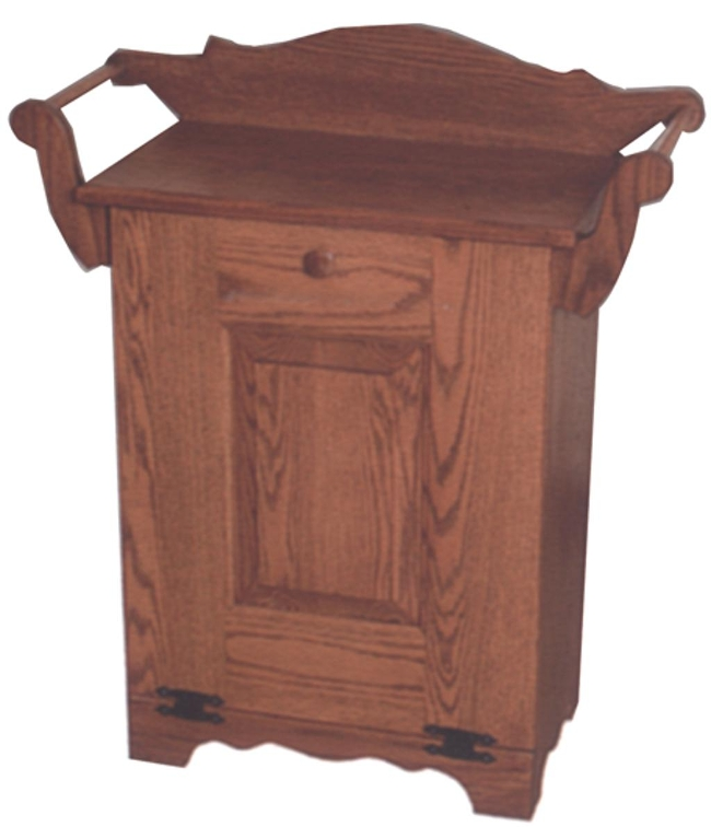 Single Tilt Door Trash Bin w/Towel