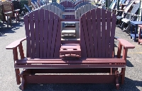 5' Adirondack Rocker/Glider w/Fold Down Center 2
